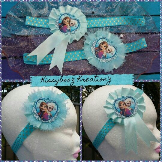 New frozen anna & elsa headbands available on our fb page