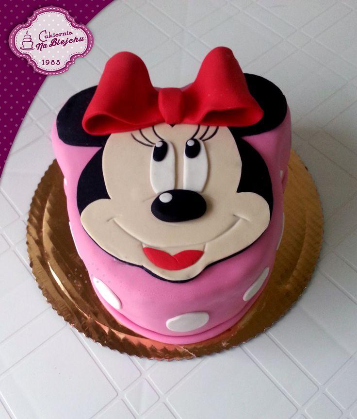 Tort dla dziewczynki, tort z Myszka Minnie, Minnie Cake, różowy tort dla dziewczynki, urodzinowy tort dla dziewczynki, tort w stylu angielskim, Minnie,