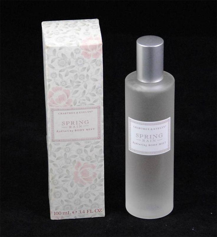 Crabtree & Evelyn SPRING RAIN Hydrating Body Mist Perfume, 3.4 fl ...