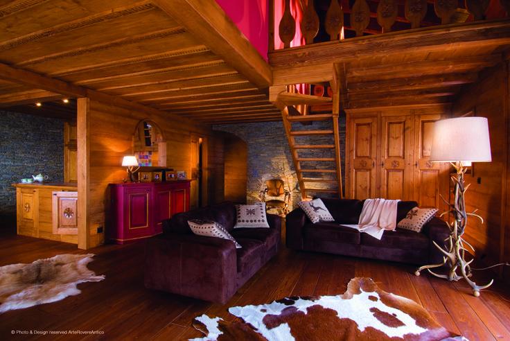    Arte Rovere Antico - Photo by Duilio Beltramone for Sgsm.it    Casa Monte Cervino -  Crans Montana - Svizzera - Wood Interior Design - Mountain House - Chalet