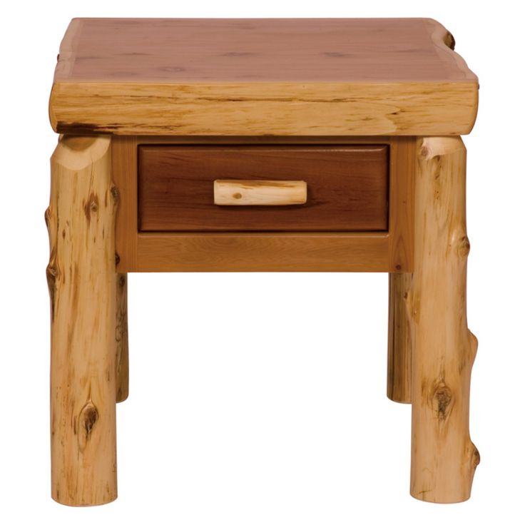 Fireside Lodge Furniture Cedar End Table with Drawer - 14021