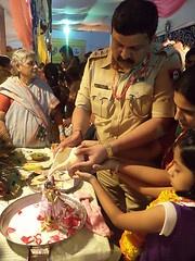 Santosh Pawar (Chief Security Officer PMC) performing sri krishna abhishek @ISKCONPune
