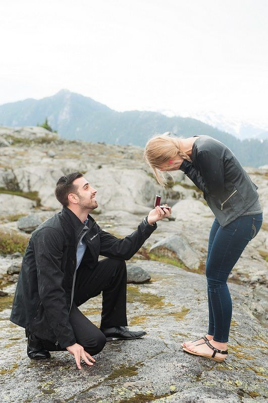 Her proposal reaction is EVERYTHING. <3