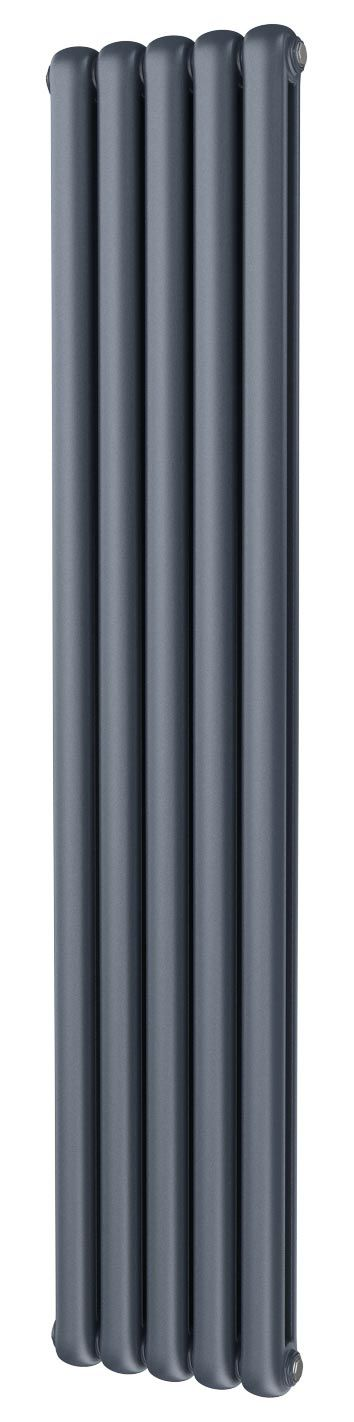 Trade Direct Contour Column Radiator, Anthracite, 1800mm x 375mm