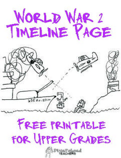 Squarehead Teachers: WW2 Timeline worksheet for upper grades. Free printable!