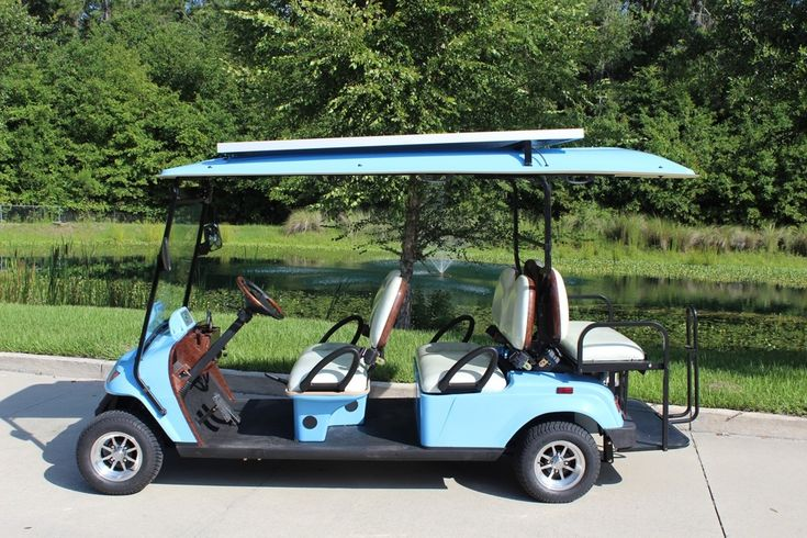 """The Bintelli 6pr is our most popular model of street legal golf cart. Included is a roof that extends over the rear facing seat along with seating for six. This is a perfect choice for both residential and commercial uses. Available in a wide variety of colors and fully loaded with the most features in the industry! Please give us a call today at (866) 542-8677 or use the """"Request a Quote"""" button below to have us send you a risk free quote!"""