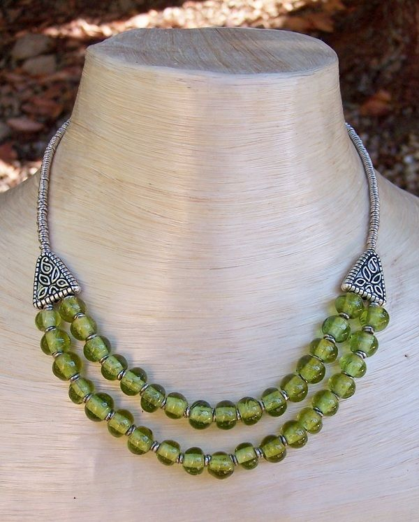 Beaded Necklace Ideas | glass bead necklaces from Kenya – The beads in this necklace ...