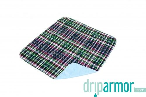 Essential Medical Supply   C2011B 3   Quik Sorb™ 24x36 Plaid Underpad   Bulk