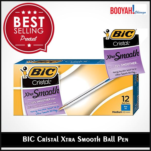 #GenuineImportedProductsDirectFromUSA Only at Booyahchicago.com BIC Cristal Xtra Smooth Ball Pen Medium Point. Buy Now: https://tinyurl.com/ya8xuhac #OfficeSupplies #SchoolSupplies