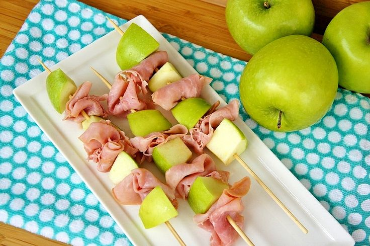 Ham and Apple Skewers...After-School Snack