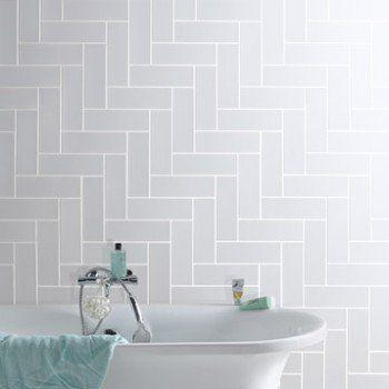 Faïence mur blanc, Basic briquette l.10 x L.30 cm | Leroy Merlin