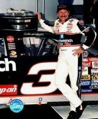 Dale Earnhardt Sr NASCAR Auto Racing 8x10 Photograph Daytona 500 Trophy 2 - CLOSEOUT SPECIAL by Hall of Fame Memorabilia. $32.95. Dale Earnhardt was a legend of American auto racing, nicknamed ''The Intimidator'' for his competitive instincts and hard-driving style. Competing in the NASCAR racing league, Earnhardt had 76 career wins and won the Winston Cup championship seven times; as NASCAR grew in popularity during the 1980s and 1990s, Earnhardt became one of Am...