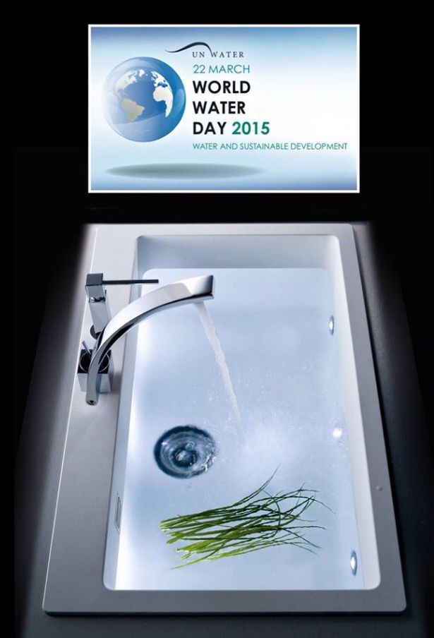 World Water Day 2015 - L'acqua, un bene insostituibile   Www.schock.it #worldwaterday #water #lavelli #granito # #cucina #prohygienic