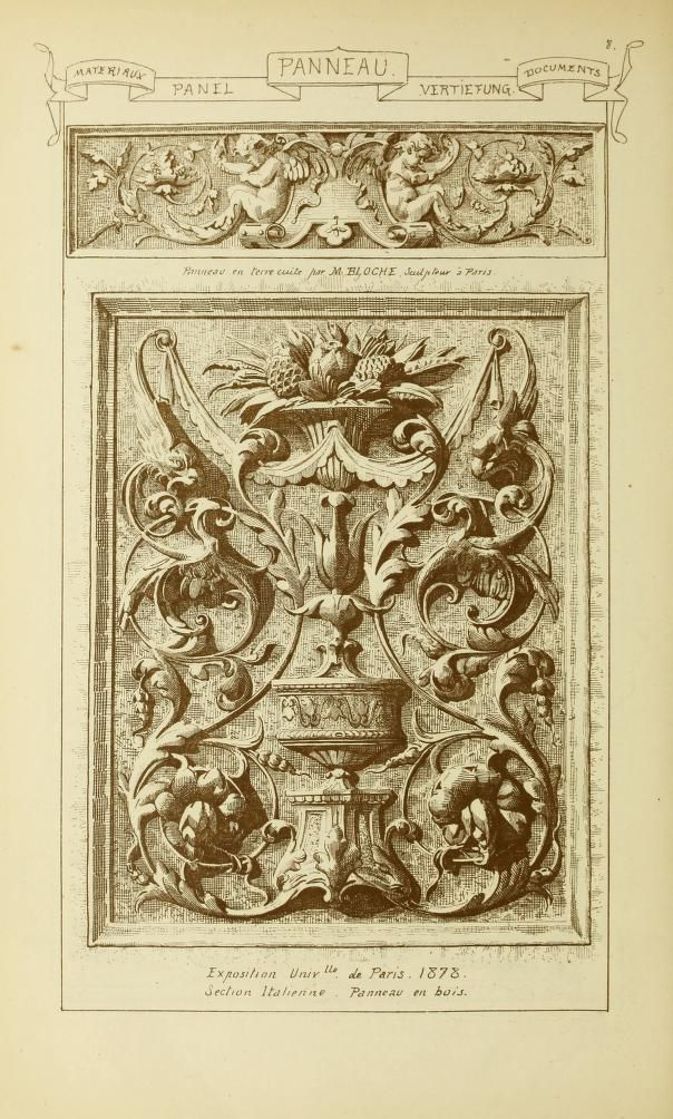 62 best arabesque grotesque renaissance panels images on for Images et documents paris