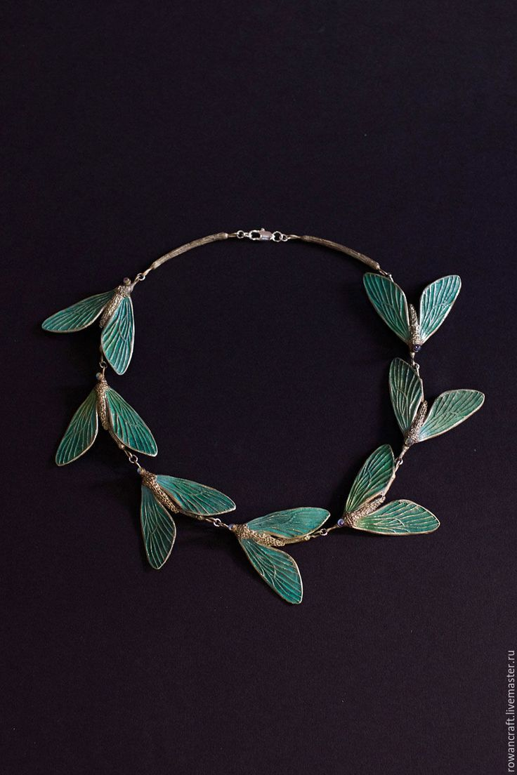 "Copper necklace ""Hyalophora linea"" - мотылек, украшение, стекло, lampwork, glass, нейзильбер, подарок"