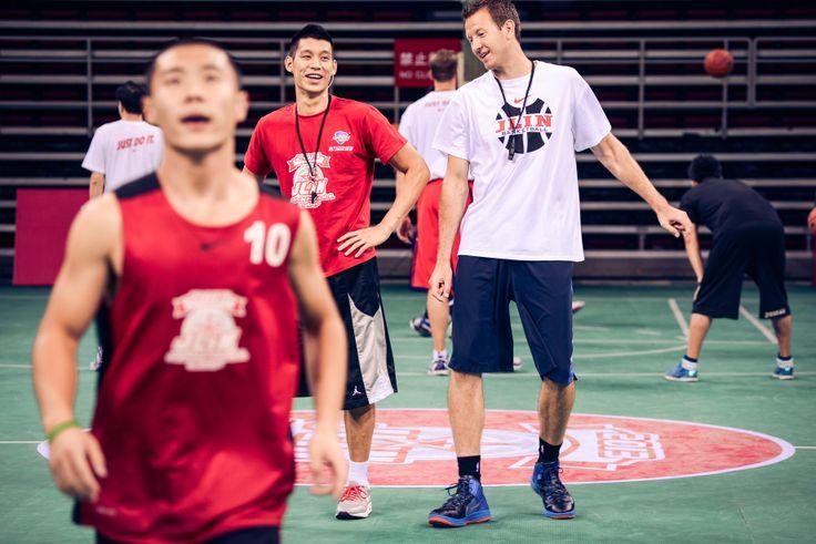 Jeremy Lin & Steve Novak@Beijing Summer Camp 2013