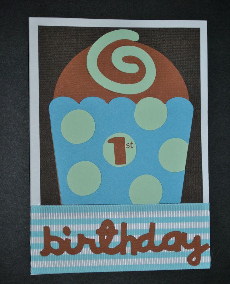 1st Birthday Card - Boy