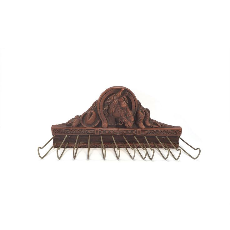 Vintage Horse Head Belt Scarf Tie Rack - Farmhouse Western Decor - Coat Hanger Entry Way Key Wall Hanging - Organization - Rustic Cowboy by HarpersFlea on Etsy https://www.etsy.com/listing/242350409/vintage-horse-head-belt-scarf-tie-rack