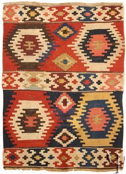 // Anatolian Kilim  in some of my current favourite colours.