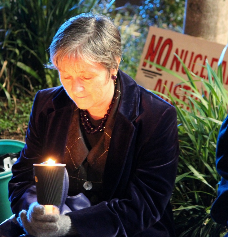 Senator Claire Moore Hiroshima Rally Brisbane 2012