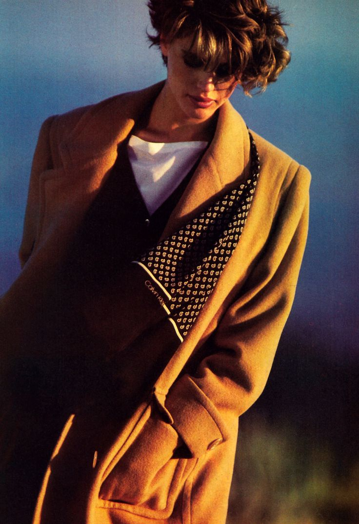 Rico Puhlmann for Harper's Bazaar, September 1984. Clothing by Calvin Klein.