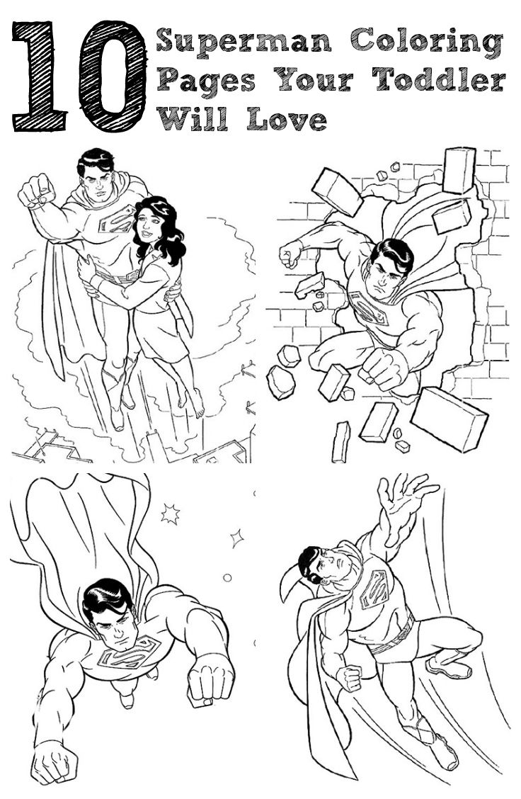 10 Simple Superman Coloring Pages Your Toddler Will Love
