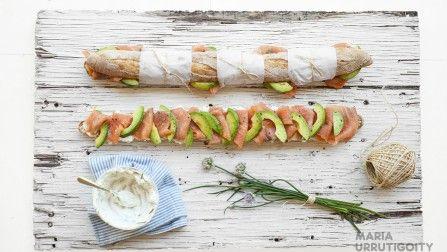 Baguette salmón y palta