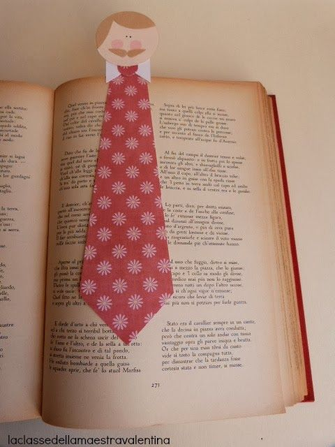 stropdas van karton wordt een gave boekenlegger!