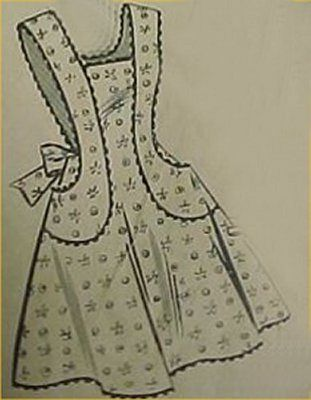 Vintage Bib Full Size Apron Pattern Classic 40s Details Sewing Fabric Project   eBay