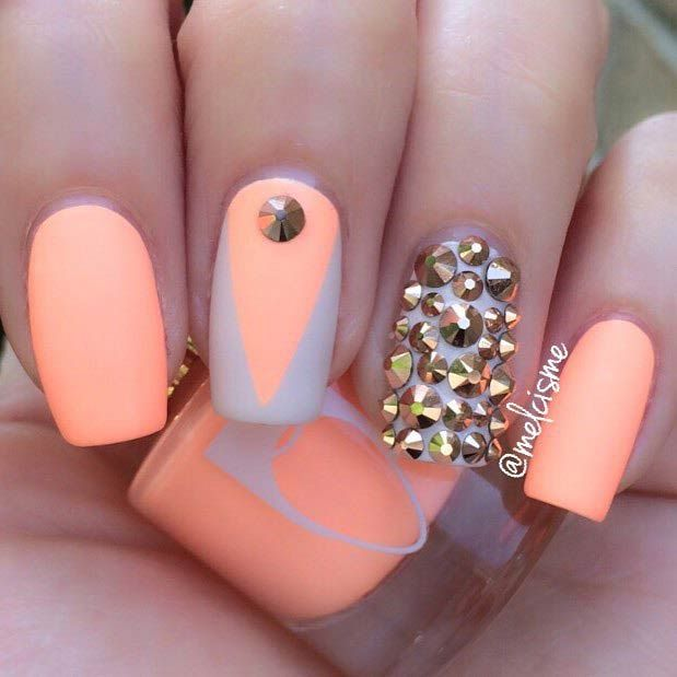 35 Bright Summer Nail Designs   StayGlam Beauty ...