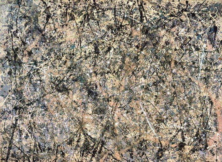 POLLOCK. Number 1 (Lavender Mist), 1950. NG, Washington, DC. Express inner life through art, result of creative process. Free application of paint, without any reference to visual reality.