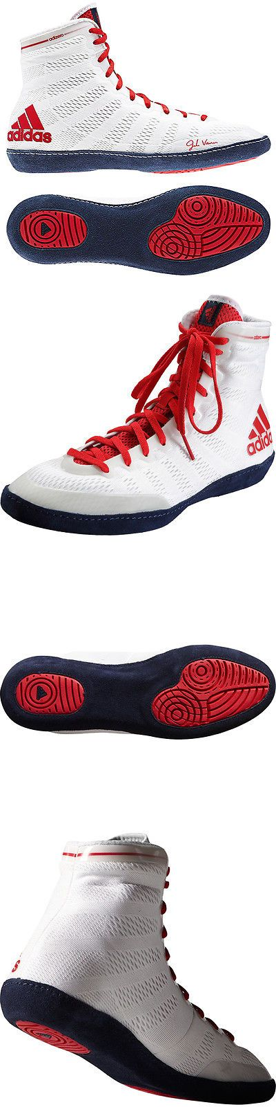 Footwear 79799: Adidas Adizero Varner High Top Wrestling Shoes - White Navy Red -> BUY IT NOW ONLY: $120 on eBay!