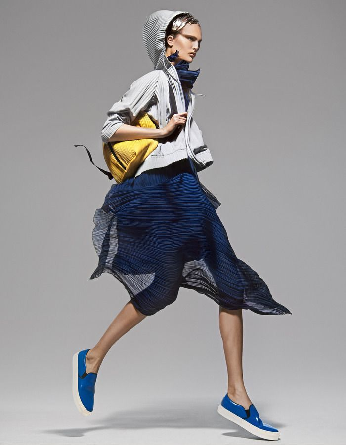 How To Spend It: Pleats and plissé fashion [Summer 2014] (8)  Whether sharp as a knife or softly concertinaed, pleats and plissé finishes are giving summer looks a new edge.