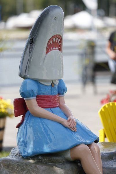 """Shark Girl"" at Canalside has become a viral attraction since she was unveiled last week."