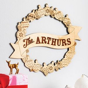 Personalised Wooden Christmas Wreath - view all sale items