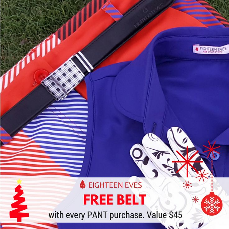 On the 9th Day of Christmas Eighteen Eves gave to me.... A FREE belt with every pant order. Simple enter pants and belt of choice and enter code: BONUSBELT at the checkout for it to be allocated.  Full Terms can be found on the EVENT Page. Not to be used in conjunction with any other offer.