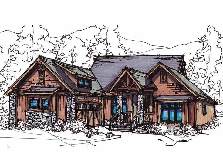 Craftsman House Plan with 1874 Square Feet and 3 Bedrooms