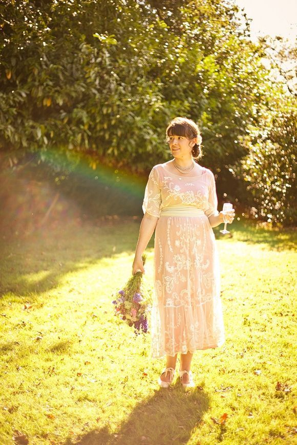 An Original Edwardian Wedding Dress for a Vintage Summer Garden Party Wedding...