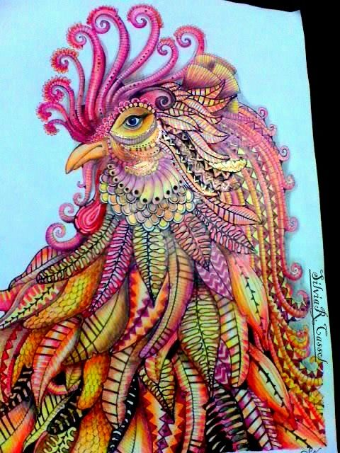 17 Best Images About Coloring Book Finished Examples On