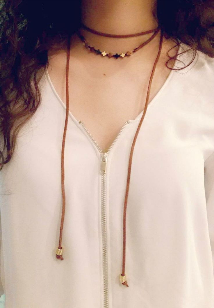 Hematite Pendant Necklace,Cross Pendant,Gemstone Jewelry,camel suede leather necklace,boho necklace,chocker jewerly,black and gold chocker by betsyarts on Etsy