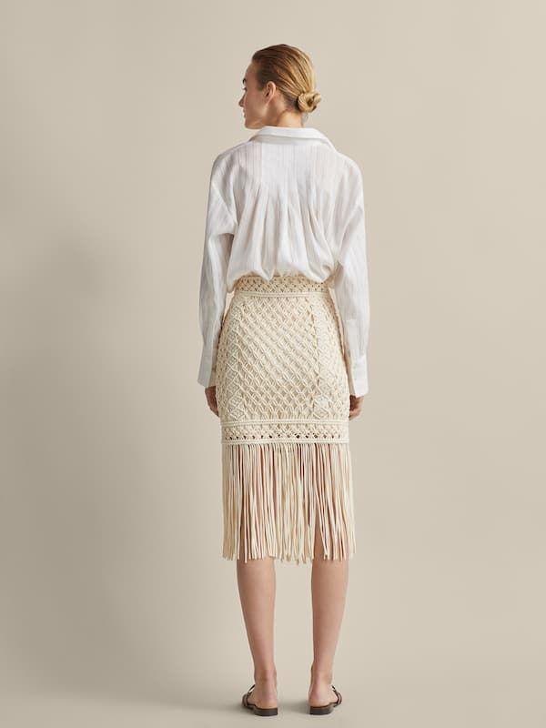 e3c2c20bb Falda algodón crochet flecos limited edition en 2019 | ropa | Faldas ...