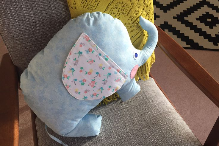 New to sewing? Have a go at this sweet little elephant cushion - you can draw your own pattern from your head or download an outline shape and use that, but it will help work on your pattern making skills. Just remember to include the seam allowance!