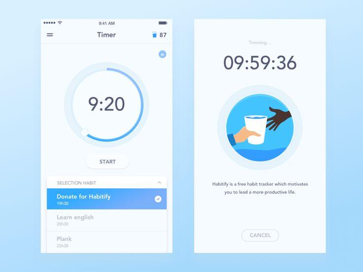 Hi guys, Here is my new shot, Timer for Habitify - habit tracker app. Thanks…