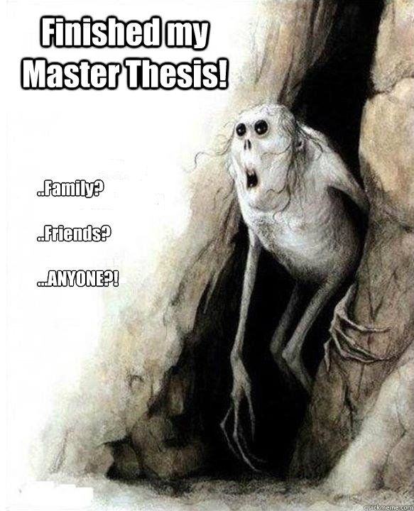 I can't write my master's thesis
