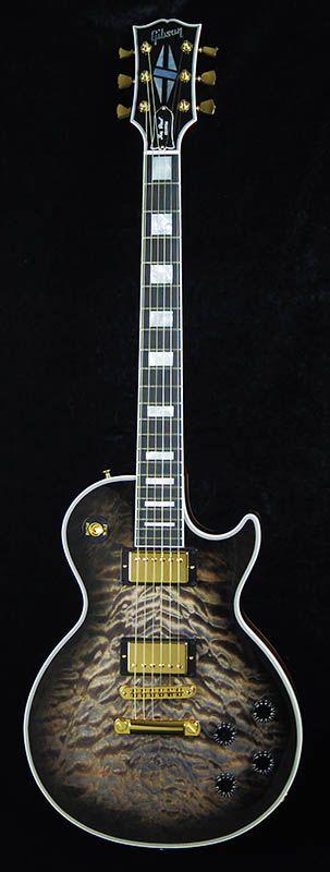 Gibson CUSTOM SHOP Les Paul Custom Quilt Top/Cobra Burst-Cherry Back #CS403342