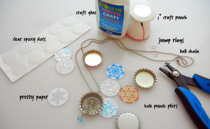 Everything you need to make bottle cap jewelry, bottle cap ornaments - bottle cap everything!