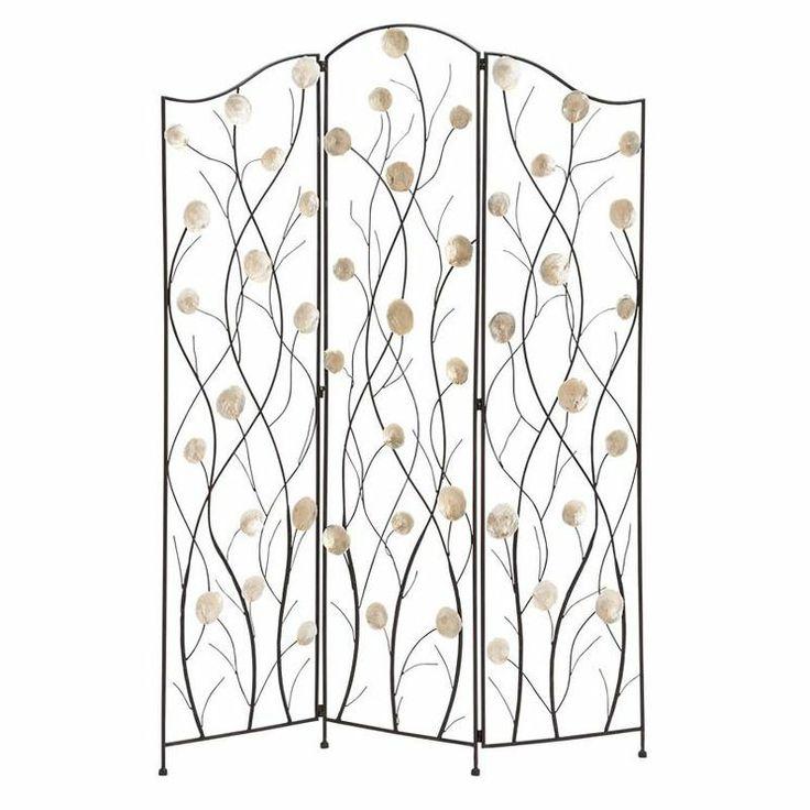 Capiz 3 Panel Room Divider In Bronze Apartment Ideas