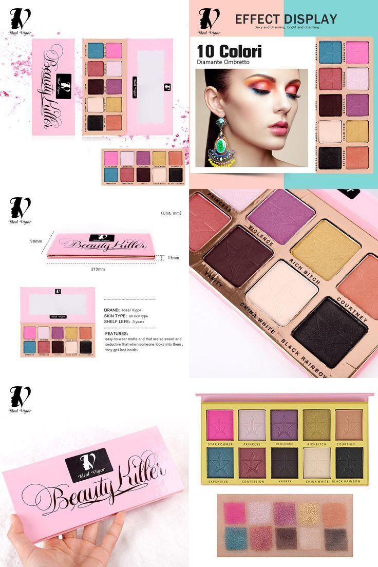 [Visit to Buy] Ideal Vigor 10 Colors EyeShadow Set Five Star Shape Cosmetics Eye Shadow Palette Easy Wear for Women Pro Makeup Tools YY047  #Advertisement