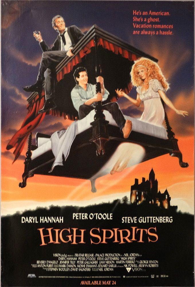 "High Spirits.1989Original US 27""x40"" Movie Poster.FREE SHIPPING.Daryl Hannah,Peter O'Toole,Steve Guttenberg,Beverly D' Angelo,Jennifer Tilly by ArtisticSoulStudio on Etsy"