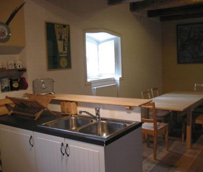 Kitchen on ground floor - The Bat Barn Luxury Villa at Lake Balaton